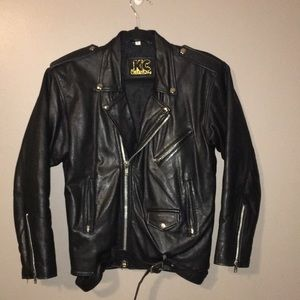 moto jacket real leather size medium